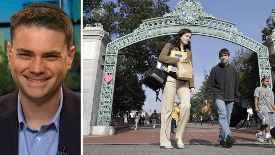 Ben Shapiro gears up for his speech at Berkeley