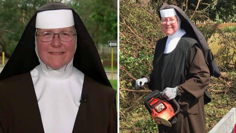 Miami nun uses chainsaw to clear Hurricane Irma debris