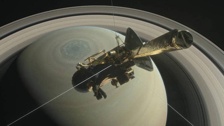The spacecraft spent 13 years exploring the ringed planet and its moons