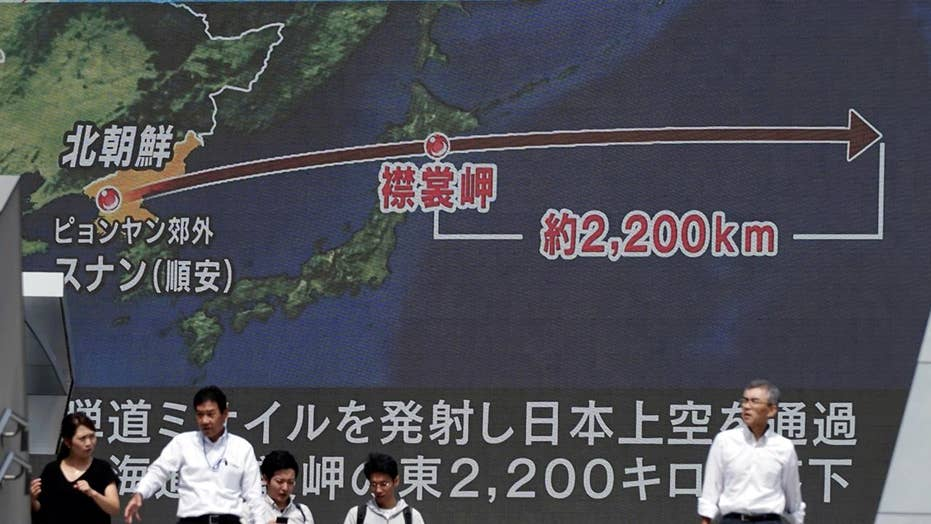 North Korea launches missile over Japan