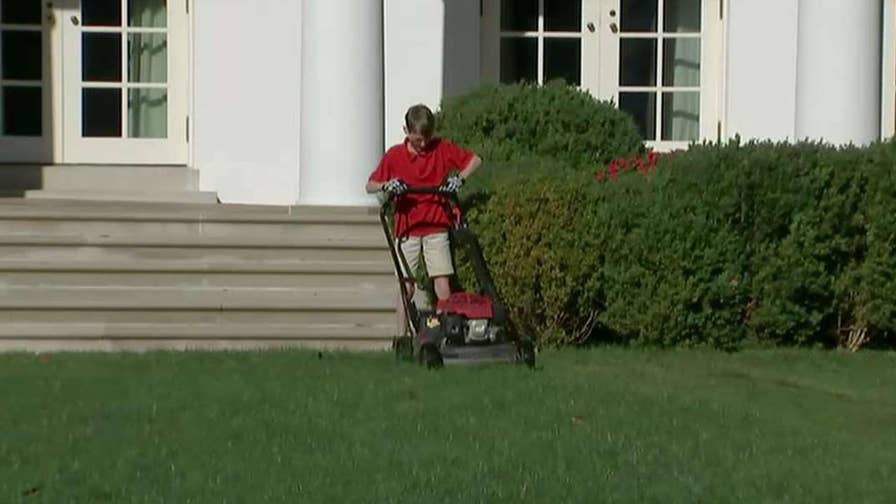 'Fox & Friends': Frank 'FX' Giaccio wrote to President Trump after starting his own lawn care business