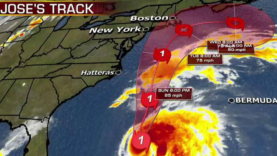 Forecasters monitoring track of Hurricane Jose