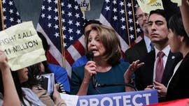 "House Democratic leader Nancy Pelosi on Sunday defended her efforts to work with President Trump to protect young illegal immigrants, saying she'll ""trust"" him on the issue and suggesting their next deal could be on infrastructure."
