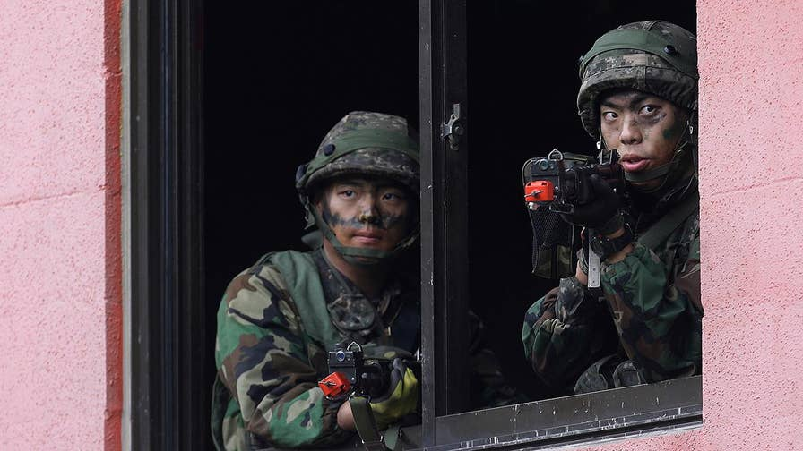 U.S. and South Korean forces practive taking over a mock town 12 miles away from the DMZ; Greg Palkot reports for 'Special Report'