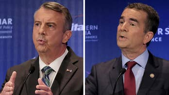 According to a Fox News poll, the race is close, with Gillespie trailing Northam by four percent within the poll's margin of error; Ellison Barber reports on 'Special Report'