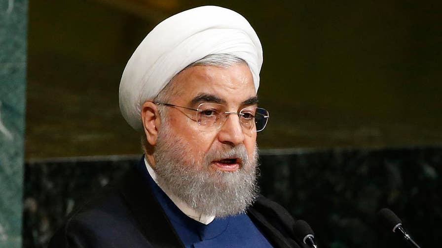 President Hassan Rouhani calls speech 'ignorant... absurd... unfit'
