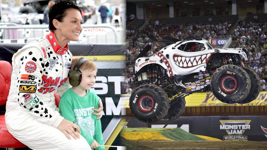 When Monster Jam trucker Candice Jolly is not racing 'Monster Mutt,' she's also balancing several other careers as a restaurant general manger and real estate agent. She also races barrel horses and runs a non-profit that provides therapeutic horseback riding for children who have Autism and Down Syndrome.