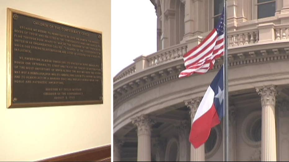 Texas lawmaker wants confederate plaque removed from Capitol