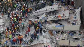 Desperate relatives were given hope Friday as tireless rescuers digging through the wreckage of Mexico's deadly earthquake continued to pull survivors from the rubble, raising the number to at least 60 people who've been saved since the quake hit midday Tuesday.