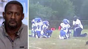 Tucker and former NFL player Freddie Mitchell debate a youth football team's Colin Kaepernick-inspired kneel during the national anthem. Tucker believes children are being used for politics; Mitchell thought they were learning a valuable lesson about America #Tucker