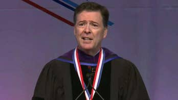 Fired FBI Director James Comey made a rare public appearance and was heckled by two dozen students at Howard University's convocation; chief intelligence correspondent Catherine Herridge reports