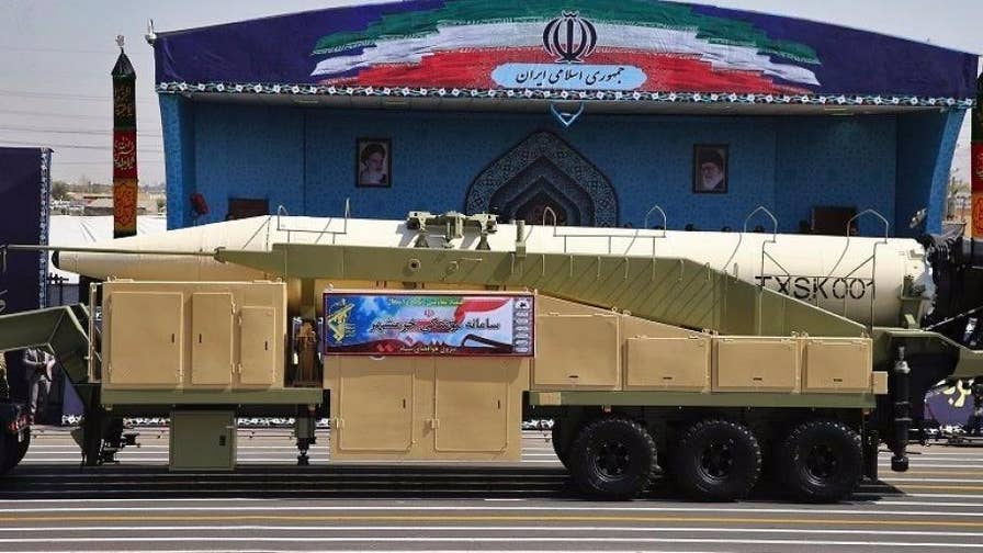 Tehran shows off its Khorramshahr missile, a weapon can carry multiple warheads and has the range to strike Israel; correspondent John Huddy reports