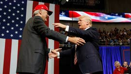 President Trump rallied with his Alabama supporters on Friday evening in a last-ditch effort to push incumbent Sen. Luther Strange across the finish line in next week's heated Republican runoff.