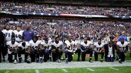 "Disputing the notion that his remarks this weekend about NFL players kneeling during the national anthem are inflaming racial tensions, President Trump said Sunday that it ""has nothing to do with race,"" but rather is about ""respect for our country."""