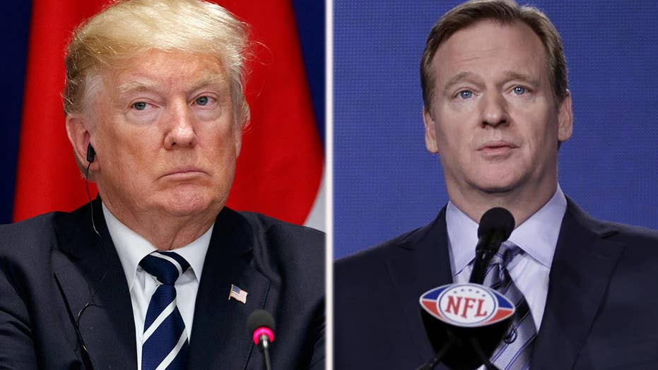 NFL commissioner blasts Trump's call to fire protesters