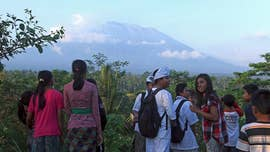"As Mount Agung in Bali is shaken by unprecedented levels of seismic activity and 75,000 people evacuate from the surrounding area, local officials are warning the volcano could erupt in ""a matter of hours."""