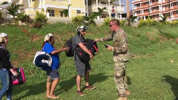 After catastrophic Hurricane Maria devastated the Caribbean island Dominica, U.S. Navy sailors on September 23rd evacuated stranded victims