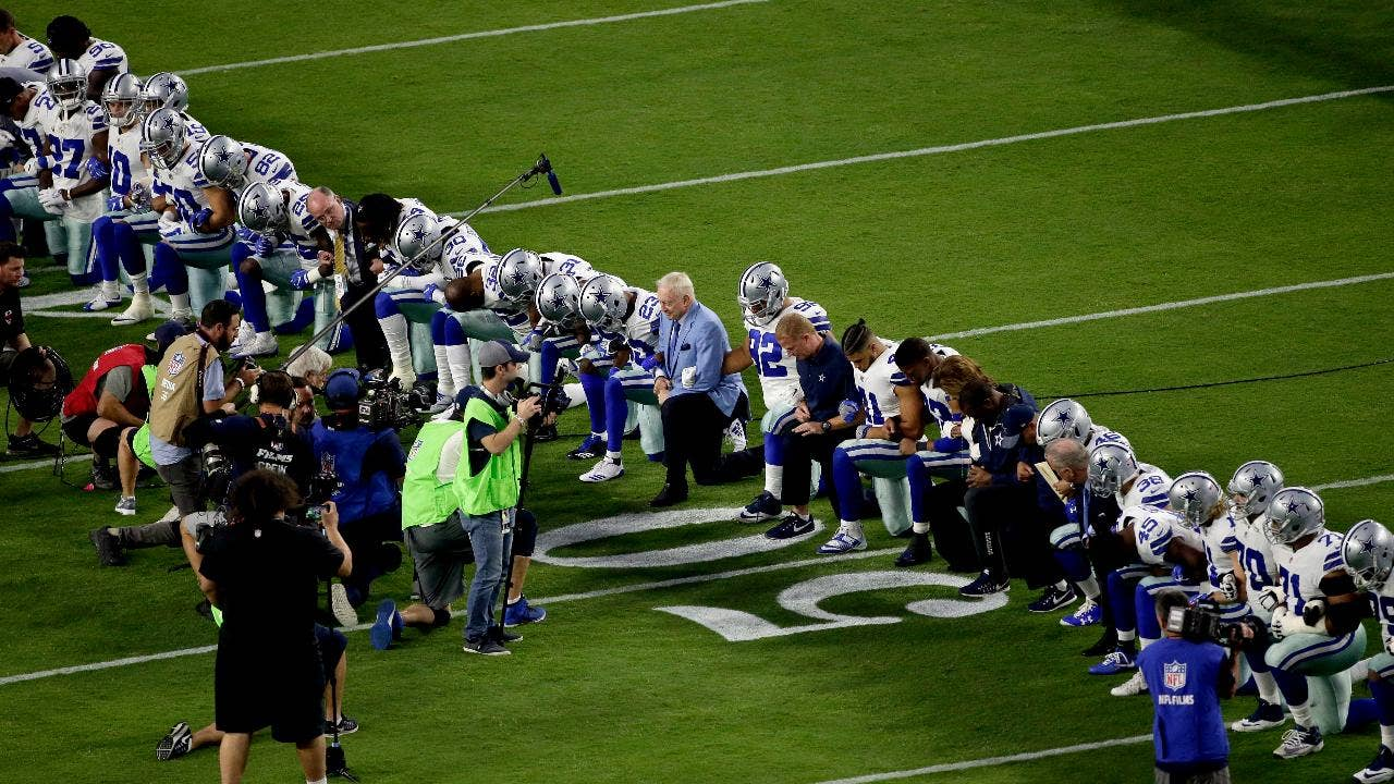 Instead of taking a knee in protest take two knees in prayer fox news