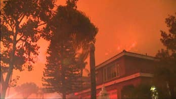 Aggressive wildfire threatens homes near Anaheim; William La Jeunesse reports from Los Angeles