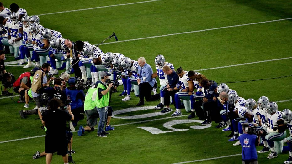 Showdown over anthem protests: NFL ratings taking a hit?