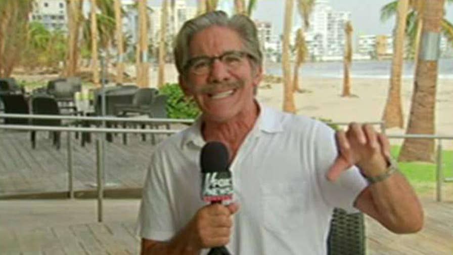 Geraldo Rivera, correspondent-at-large for Fox News, tours the devastated island
