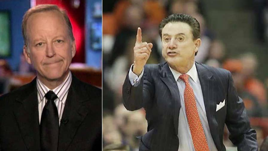 Sportscaster speaks out on 'The Story' as Louisville puts coach Rick Pitino on leave.
