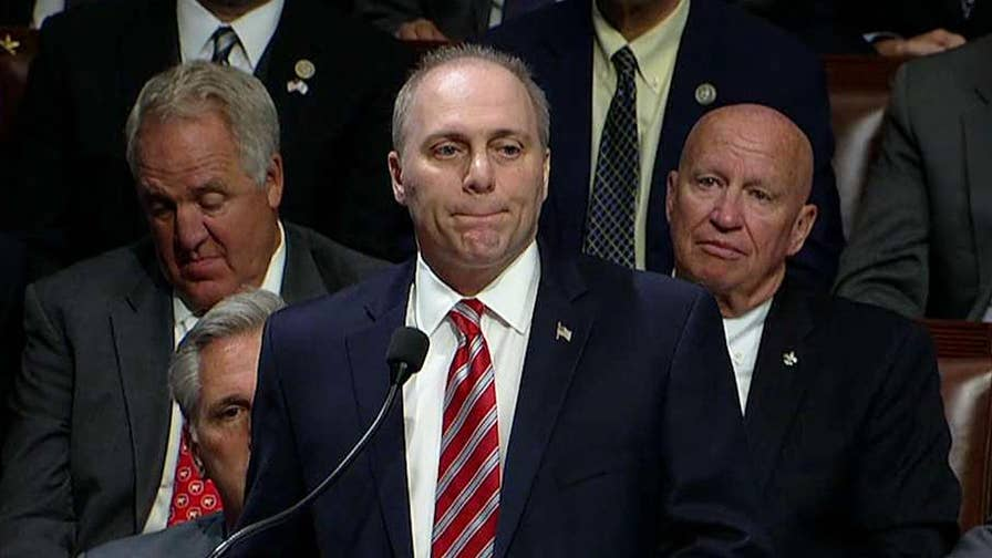 Mike Emanuel reports on the congressman's emotional return to the Capitol.