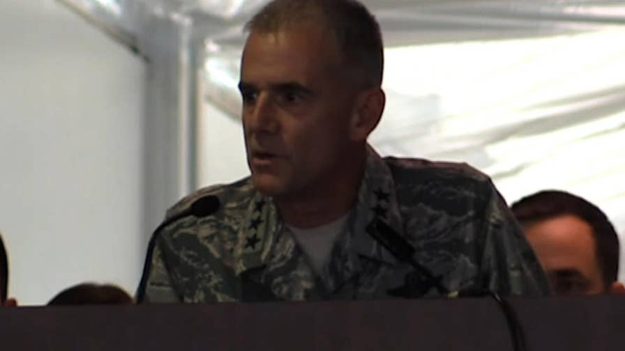 Lt. Gen Jay Silveria, superintendent of the US Air Force Academy, delivered a message on the power of diversity saying the cadets should be 'outraged' after racial slurs were scrawled outside black students' doors at the USAF prep school.