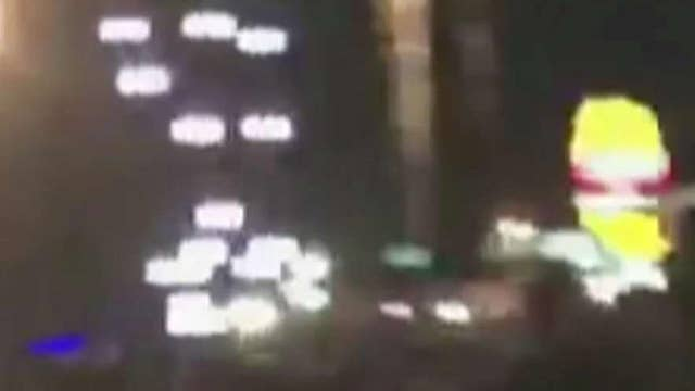 Cellphone video captures moment Vegas shooting started
