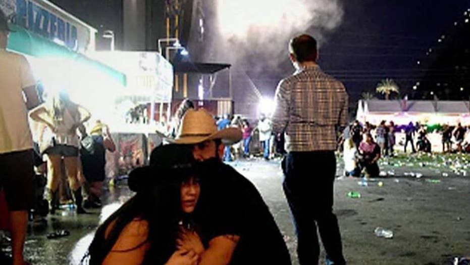 Las Vegas shooting witness describes hiding under bleachers
