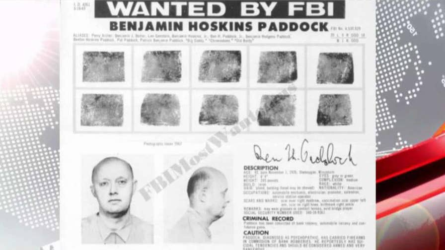 Benjamin Hoskins Paddock was a bank robber in the 1970s, was on the FBI's 'Most Wanted' list.
