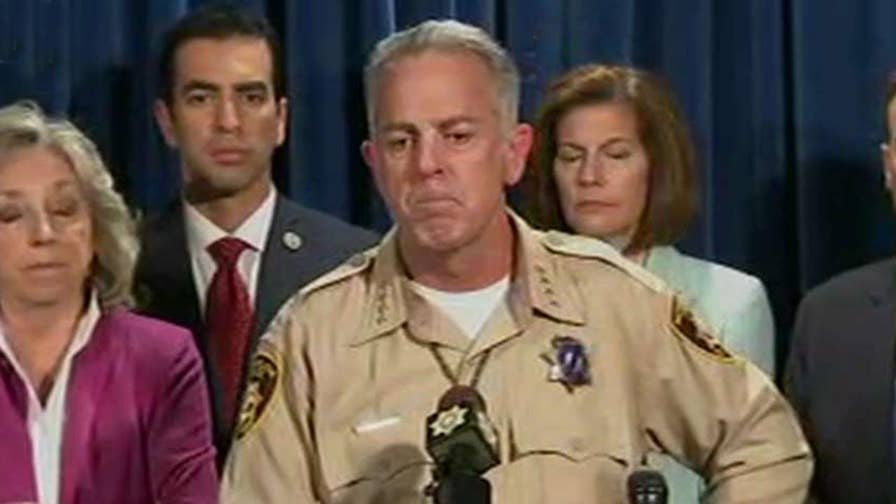 Clark County, Nevada sheriff praises response of law enforcement officials to Las Vegas gunman.