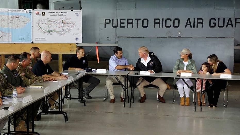Trump briefed in Puerto Rico on hurricane response