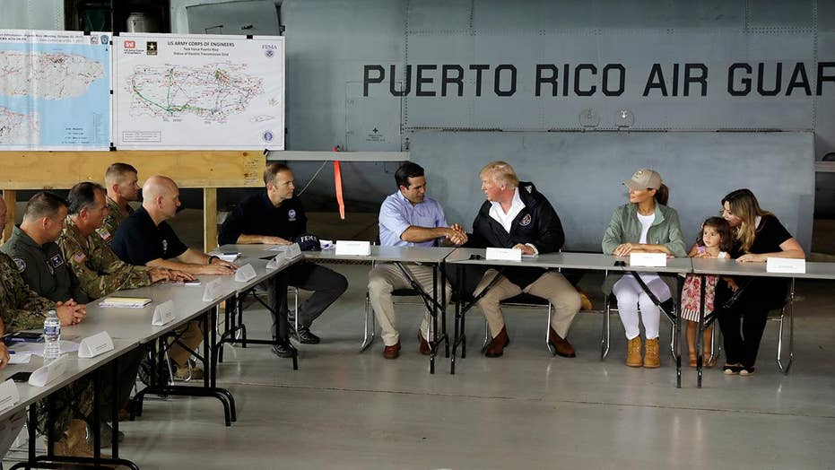 Trump briefed in Puerto Rico on hurricane response