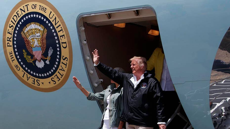 Trump lands in Puerto Rico to survey hurricane damage