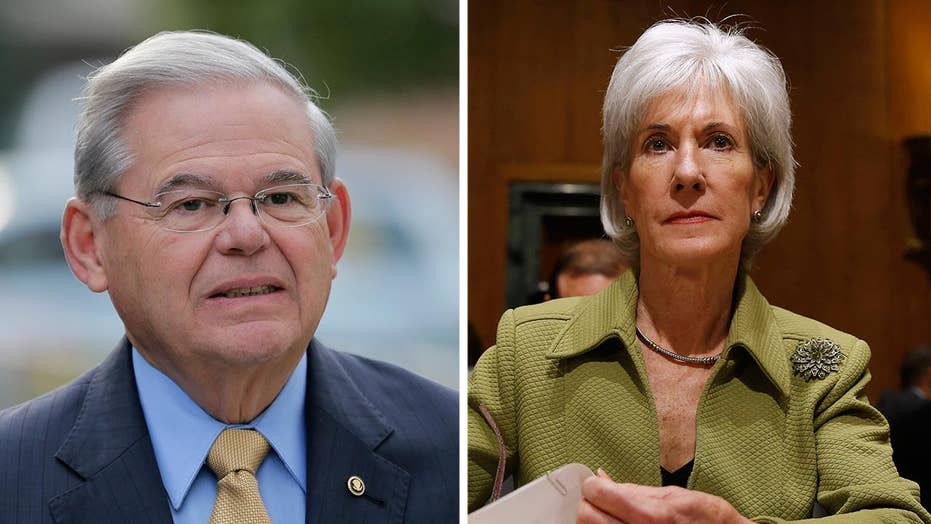 Former HHS secretary testifies about Menendez meeting