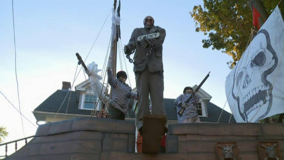 Political-themed Halloween decoration turning heads
