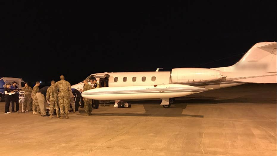 US military airlifts islanders affected by Hurricane Maria