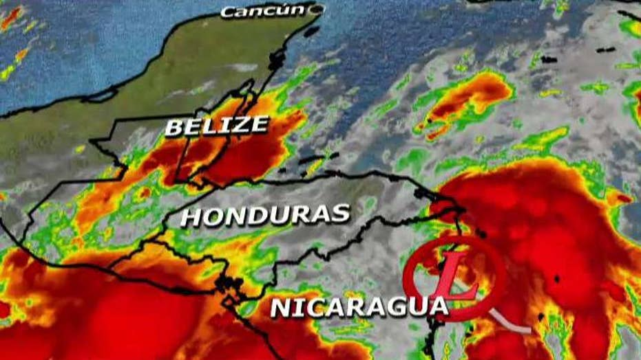 Possible hurricane developing in the Gulf of Mexico