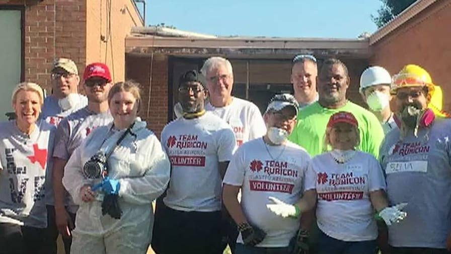 Janice Dean goes to Wharton, Texas to meet up with group providing disaster relief.