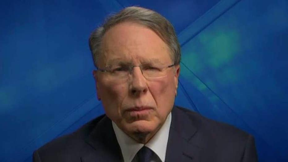 Wayne LaPierre reacts to Las Vegas tragedy, bump stock issue