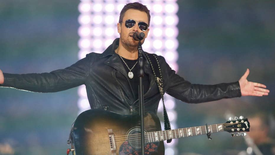 Eric Church chokes up during Las Vegas shooting tribute