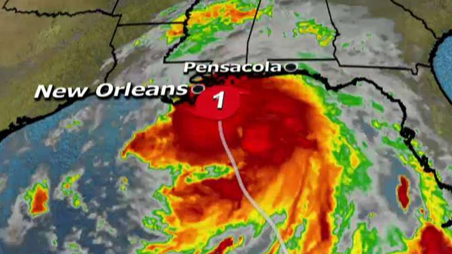 Hurricane Nate makes landfall near Mississippi River