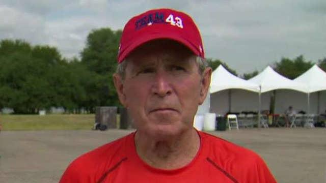 George W. Bush previews hurricane benefit concert
