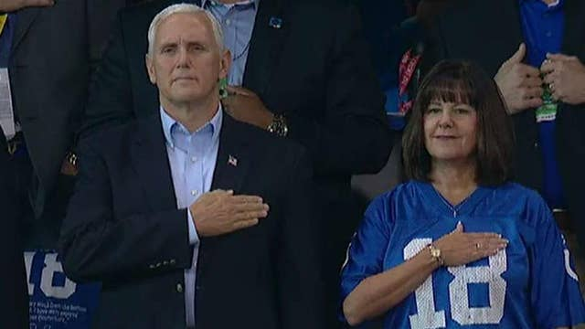 Critics claim Pence's protest was a costly publicity stunt