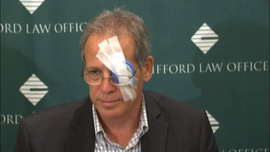 Raw video: John Loos was struck by a foul ball at Wrigley Field in August.
