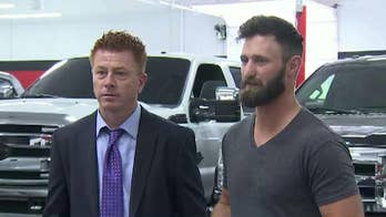 Arizona auto dealership owner Shane Beus gifts Taylor Winston a new Ford F-150 after he was credited with saving dozens of lives during shooting.