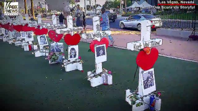 Chicago man honors Vegas shooting victims with 58 crosses