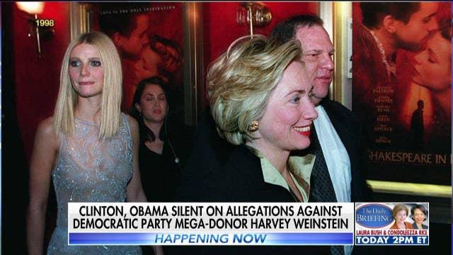 Bill and Hillary Clinton Silent on Harvey Weinstein