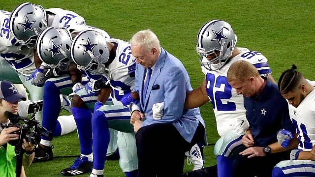 NFL tries to recover the fumble over the national anthem